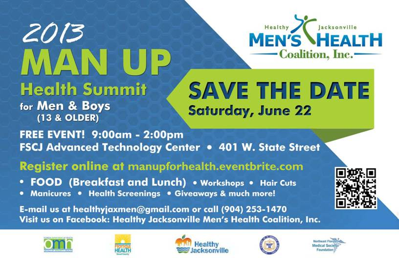 Man Up For Health Summit To Be Held June 22 Ne Fl