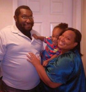 Denise Mills with her fiance Calvin Sr. and son Calvin Jr.